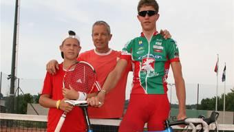 Dietrich «Didi» Thurau mit seinen Söhnen Urs (links) und Björn. ZVG