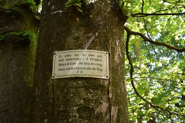 Auf der Tour entdecken Belser und Meier immer wieder Neues. Dieses Schild wurde aber nicht von den Beiden angebracht.