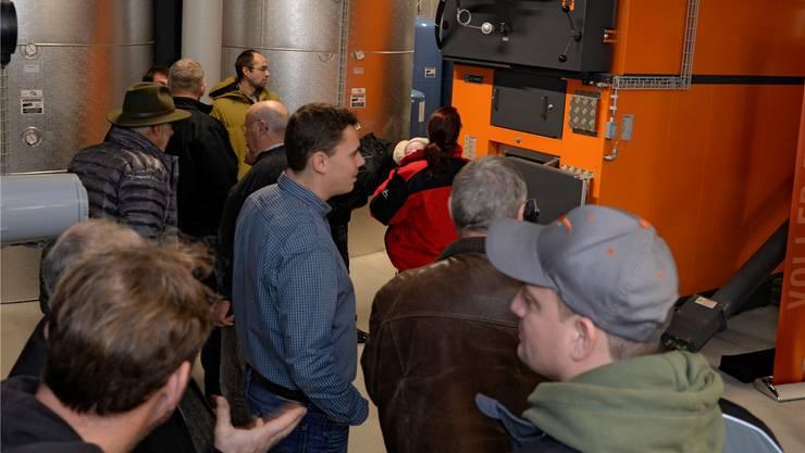 Der 550-Kilowatt-Heizkessel stand am Tag der offenen Tür im Mittelpunkt des Interesses.