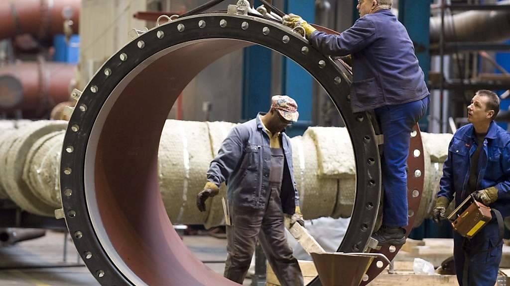 Die deutsche Industrie hat im Mai die globalen Handelskonflikte sowie die wirtschaftlichen Unsicherheiten zu spüren bekommen. (Archivbild)