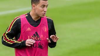 Eden Hazard beim Training mit der Nationalmannschaft.