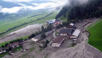 Verwüstung nach dem Unwetter im Südtirol