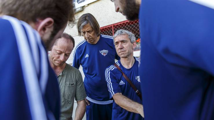 Cantautore und Trainer Marco Tudisco gibt letzte Anweisungen