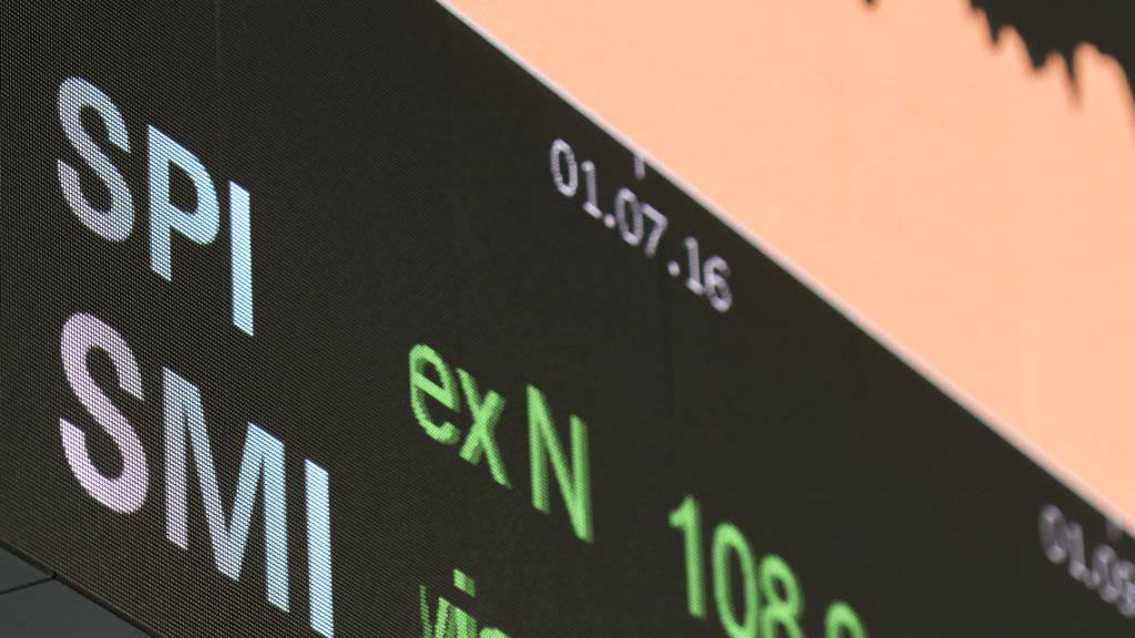 Schweizer Leitindex SMI erstmals über 10'000 Punkten