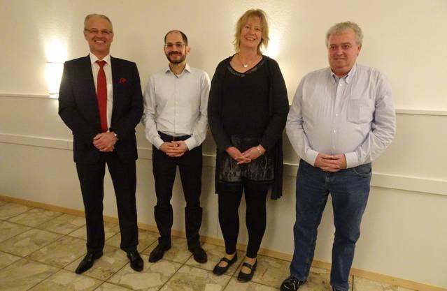 von links nach rechts: Rainer Schmidlin, Marco Di Franco, Eveline Bläsi und Heinrich Ledergerber