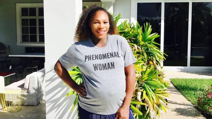 Serena Williams schont sich und ihr Kind auch trotz Schwangerschaft nicht. (Instagram)