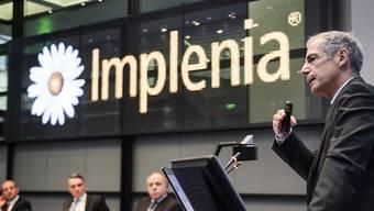 Anton Affentranger, CEO Implenia, spricht an der Bilanzmedienkonferenz zum Jahresergebnis 2015 am Dienstag, 23. Februar 2016, in Zuerich. (KEYSTONE/Ennio Leanza)