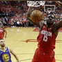 Houstons Clint Capela beim Dunk gegen die Golden State Warriors