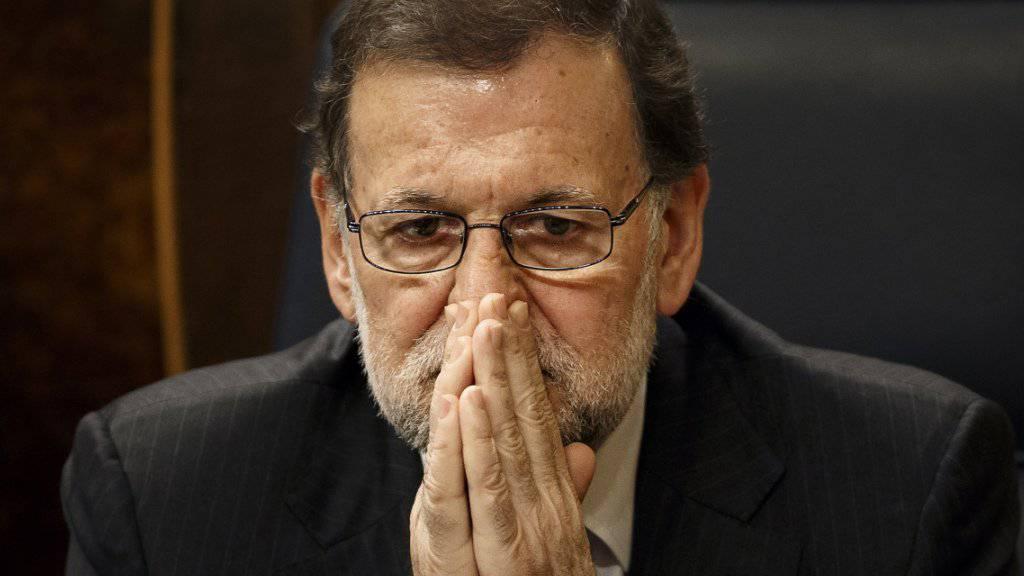 Will nicht mehr: Der amtierende spanische Ministerpräsident Mariano Rajoy im Parlament in Madrid (Aufnahme vom 13. Januar).