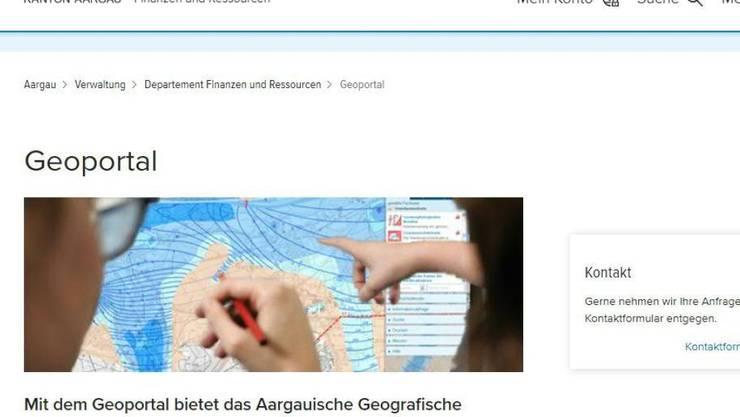 Die Website des Kantons.