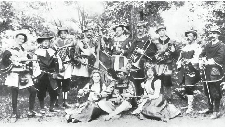 1899 - Stadtmusikanten als Chilbimusik an der Dornacherschlachtfeier