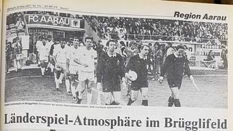 Das «Aargauer Tagblatt» vom 20. Mai 1987.AZ-Archiv