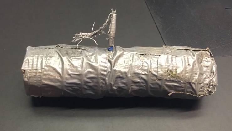 Das ist der erste Sprengkörper, der in Klingnau gefunden wurde, am 26. Mai 2020.