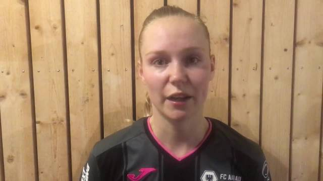 Videointerview mit Alessandra Abbühl nach FC Aarau Frauen - GC