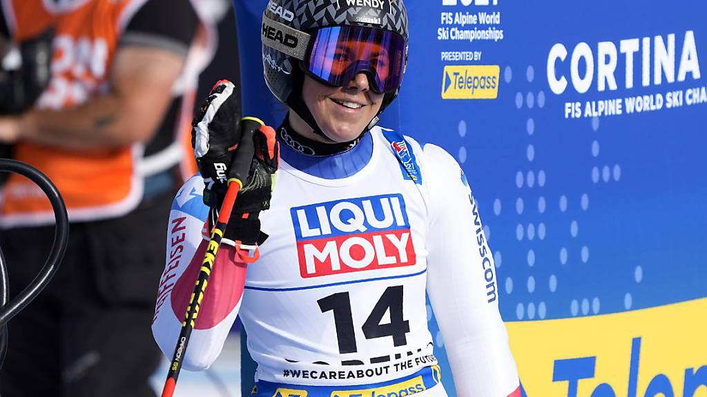 Wendy Holdener lächelt in Cortina bis jetzt gequält