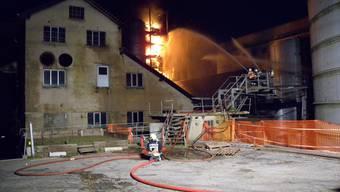 Brand auf dem ehemaligen Borregaard-Areal