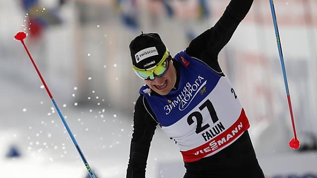 Ueli Schnider überzeugt in Falun.