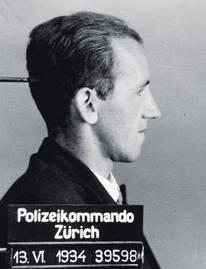 Polizeibild von Hans Vollenweider aus dem Jahr 1934