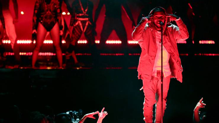 "Beyoncé (links) und Kendrick Lamar performen ""Freedom"" bei den BET Awards in Los Angeles (Archiv)"