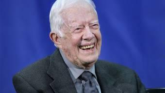 Jimmy Carter ist zu Hause gestürzt und musste über dem Auge genäht werden. (Archiv)