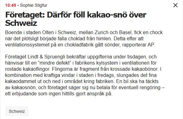 Der Artikel auf der Homepage des schwedischen «Aftonbladet»