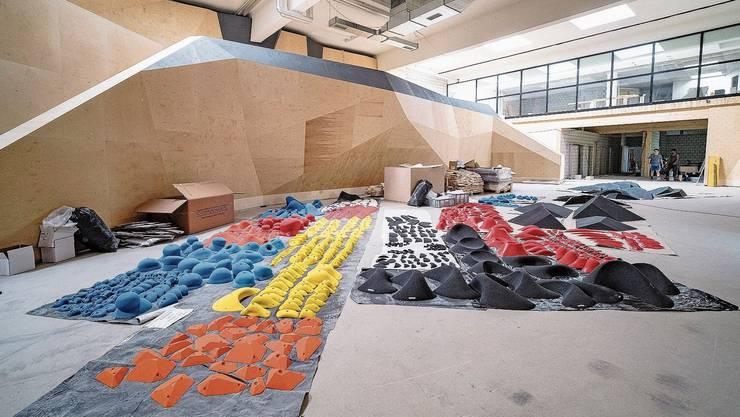 Auch eine Boulderhalle findet Platz im umgenutzten Gebäude.
