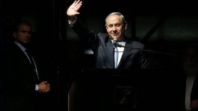 Netanjahu bei einer Wahlkampfveranstaltung in Tel Aviv (Archiv)