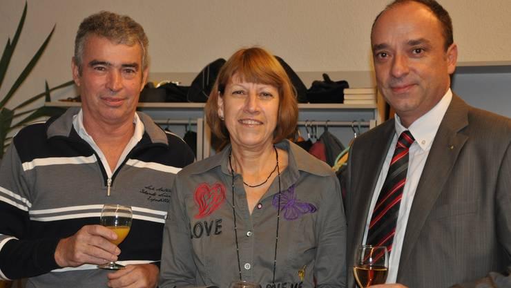v.l. Heinz und Brigitte Wey, Gemeindeammann Dr. Markus Dieth