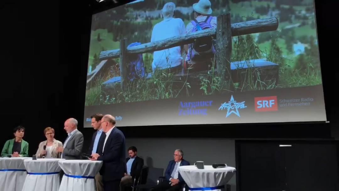 Podium mit den Aargauer Ständeratskandidaten vom 19.9. in Baden – AHV und Altersvorsorge