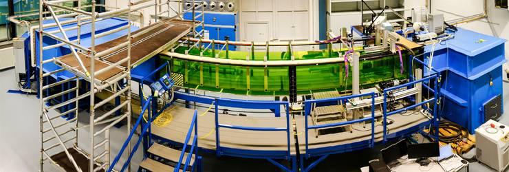 Der Testbereich (grüne Röhre) ist 6 Meter lang, einen Meter breit und 0,6 Meter hoch.
