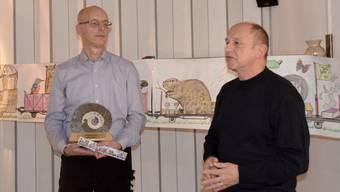 Arpad Major (rechts), seit Montag Gemeindeammann, gratulierte Jürg Winter.