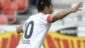 Oscar Scarione erzielte das 1:0 gegen Sion