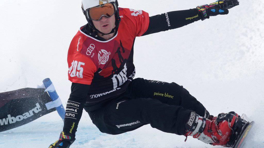 Alpin-Snowboarder Nevin Galmarini feiert in Rogla seine Sieg-Premiere im Weltcup