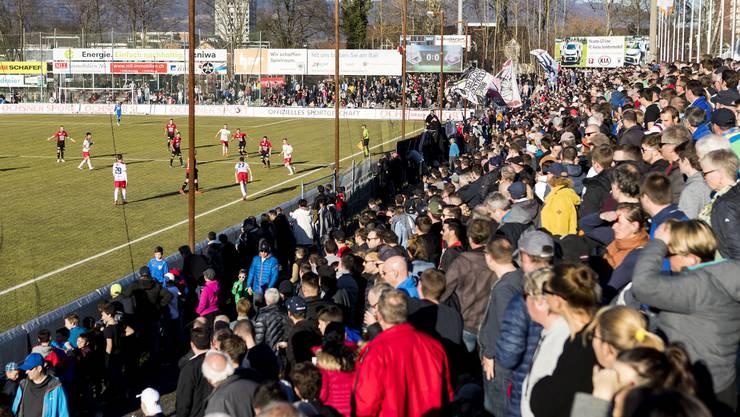 Das Brügglifeld-Stadion in Aarau, ein mythischer Ort für FCA-Fan Roger Kündig