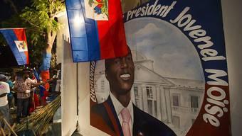Anhänger des neuen haitianischen Präsidenten Jovenel Moïse beflaggen die Stadt Port-au-Prince.