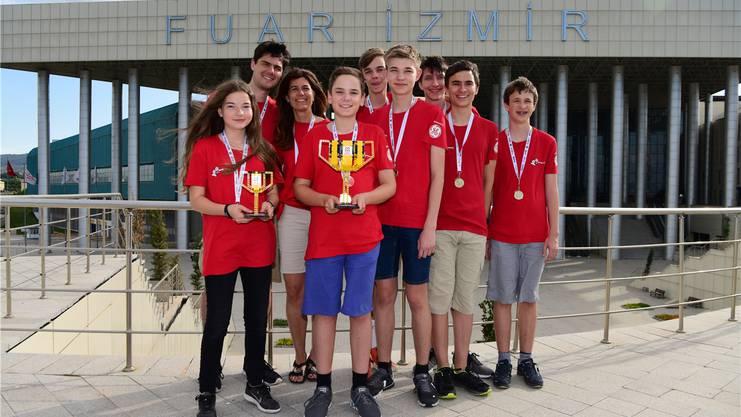 Das Robotik-Team «Mindfactory» durfte in der Türkei feiern. zvg