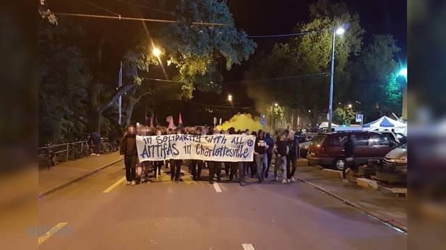 Spontane Protest-Aktion nach Ausschreitungen in USA