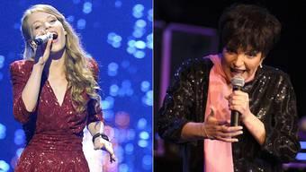 Anna Rossinelli und  Liza Minelli. Am selben Abend auf der selben Bühne.