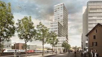 Neue Gesellschaft für Swissôtel und Neumarkt: Zusammen mit dem Andreasturm wird der Franklinturm in Zukunft in Zürich Nord eine eigene kleine Skyline bilden. (Visualisierung)