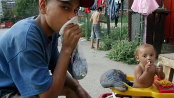 Strassenkinder in Bukarest (Archiv)