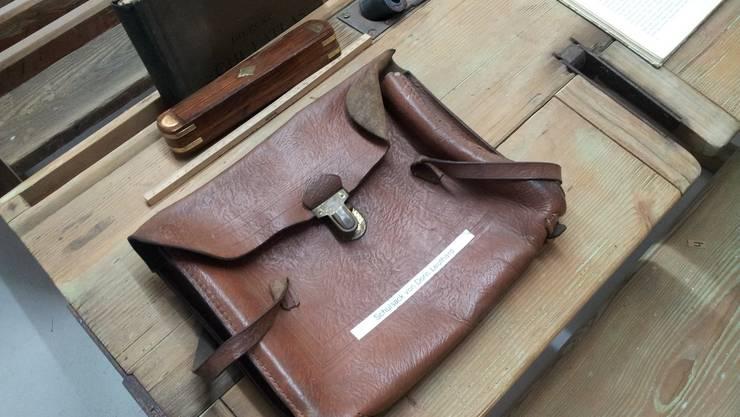 Die erste Schultasche von Bundesrätin Doris Leuthard