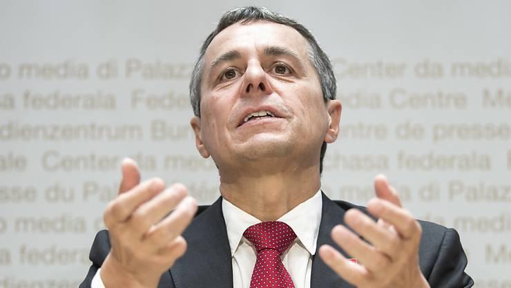 Der Schweizer Aussenminister Ignazio Cassis lüftet das Geheimnis.