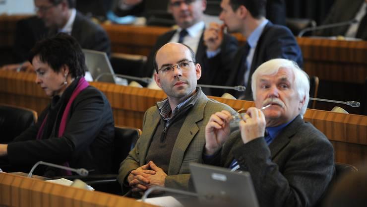 Urs-Peter Moos (Mitte) hat jetzt seine eigene Partei. (Archiv)