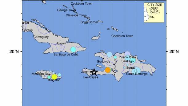 Bei Haiti hat sich ein schweres Seebeben ereignet.