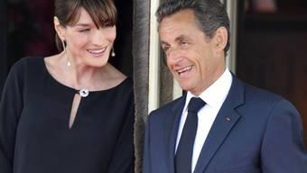 Es ist ein Mädchen: die glücklichen Eltern Carla Bruni-Sarkozy und Nicolas Sarkozy (Archiv)