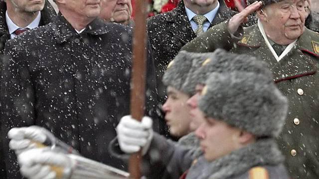 Militärische Gedenkfeier in Moskau