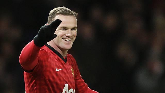 Manchester Uniteds Wayne Rooney durfte erneut mehrmals jubeln.
