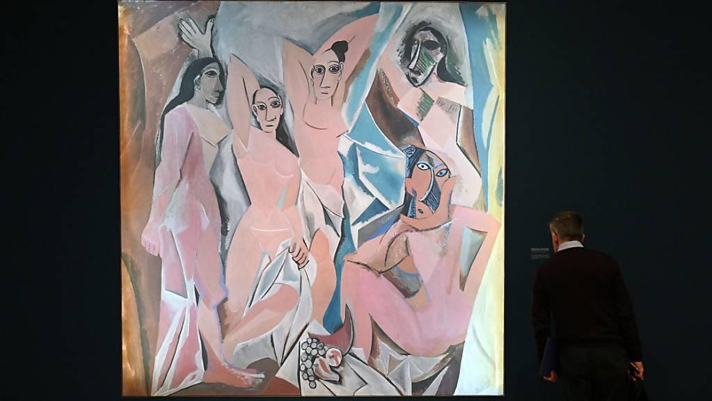 """Die Ausstellung """"Picasso und Papier"""" in London zeigt etwa Zeichnungen des spanischen Künstlers für das berühmte Gemäde """"Les Demoiselles d'Avignon""""."""