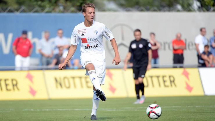 Nicolas Bürgy im Dress des FC Wohlen.