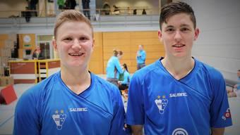 Flurin Furrer und Timm Stern –  sie konnten alle ihre Spiele für ihr Team am Wochenende in der NLB gewinnen